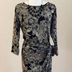 Veronica M Vintage Faux Wrap Dress